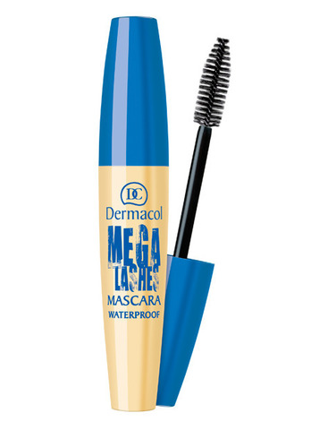 Dermacol Mega Lashes Waterproof Mascara Водостойкая тушь для ресниц для создания суперобъема с панорамным эффектом, 13мл