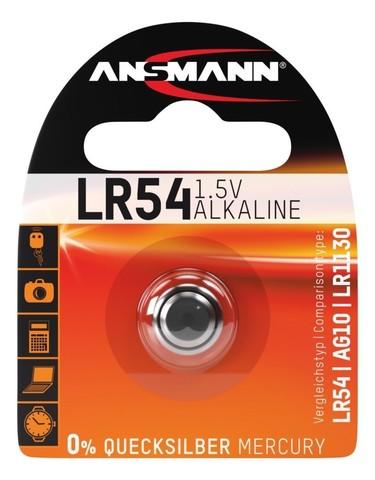 Батарейка LR54 / LR1130 / AG10 ANSMANN 1.5V