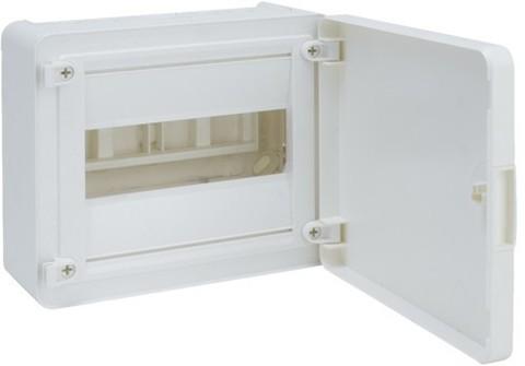 Щит открытой установки, 8М, с непрозрачной дверцей
