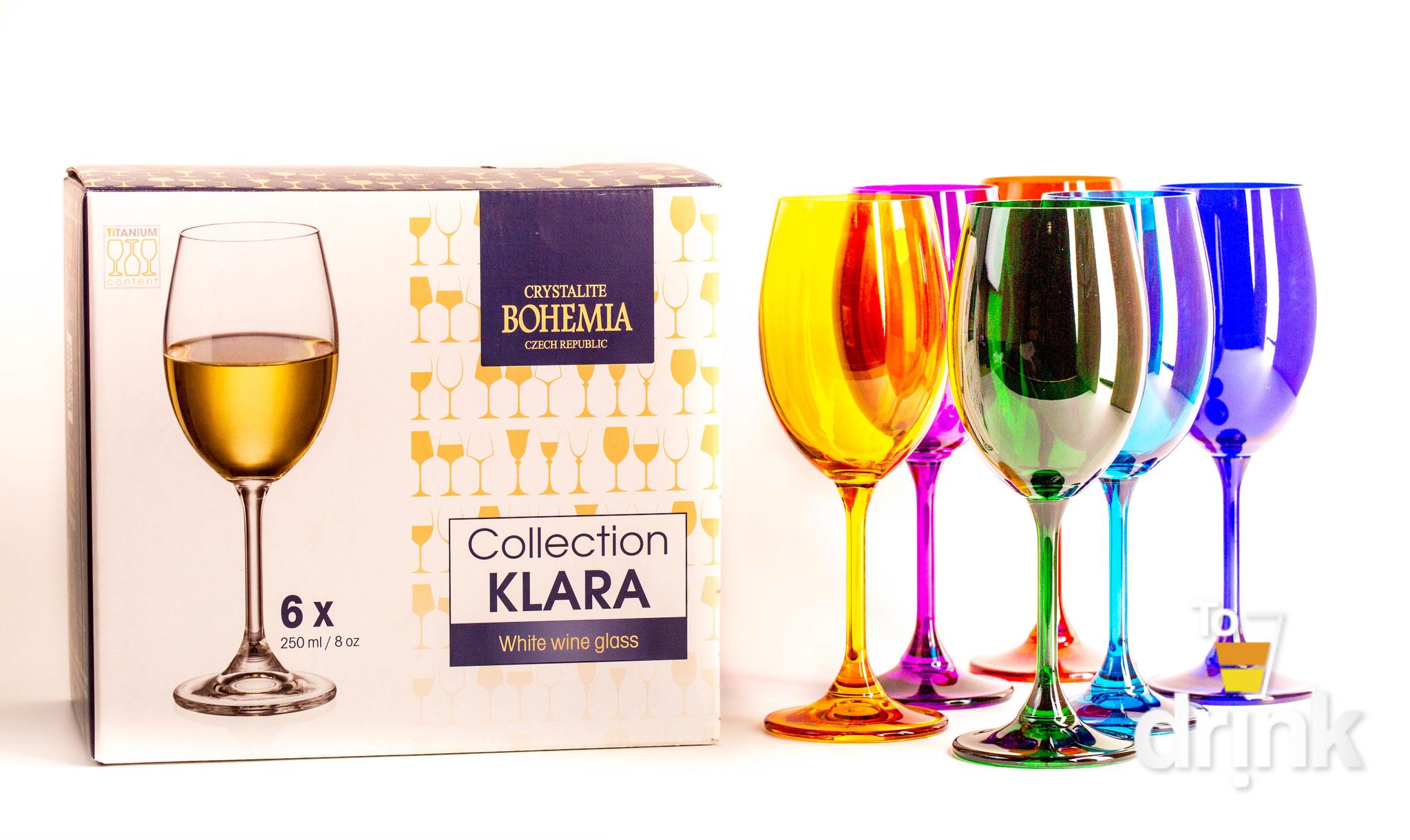 Набор бокалов для вина 250 SYLVIA/KLARA цветные (6 шт)
