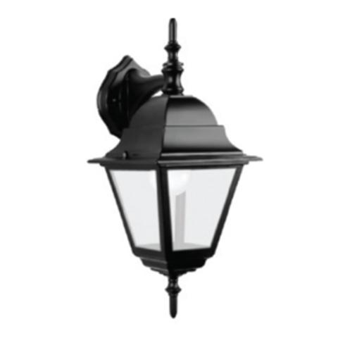 Светильник 4060-02 садово-парковый четырехгранник, 60Вт, вниз, черный TDM