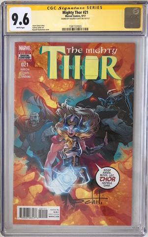 CGC The Mighty Thor #21. Автограф  Валерио Скити. Состояние 9,6
