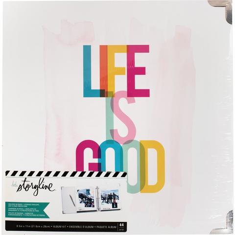 Папка на кольцах для Project Life ( для файлов 22х28 см) Heidi Swapp Storyline2 D-Ring Album  -Life Is Good