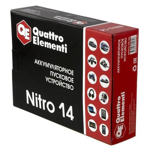 Пусковое устройство QUATTRO ELEMENTI Nitro 14  (12В, 14000 мАч, 450 А,  USB, LCD -  фонарь (790-328)