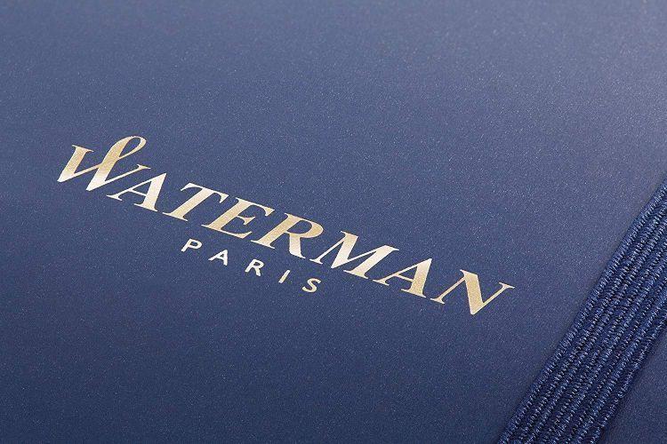 Набор подарочный Waterman Expert - Muted Black CT, шариковая ручка, F + блокнот