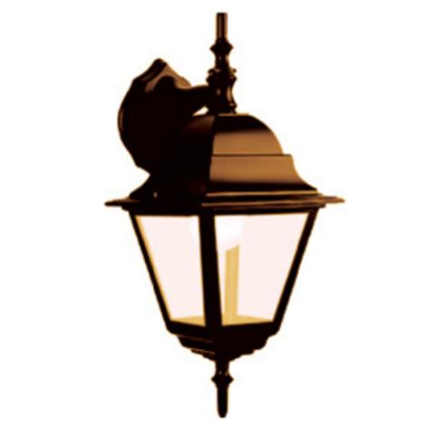 Светильник 4060-12 садово-парковый четырехгранник, 60Вт, вниз, бронза TDM
