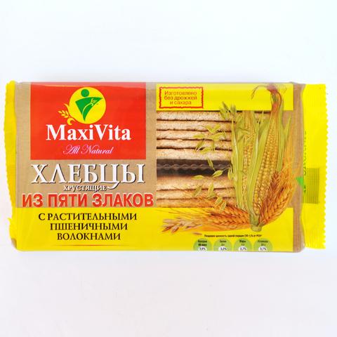 Хлебцы 5 злаков с растительными волокнами Maxi Vita 150 г