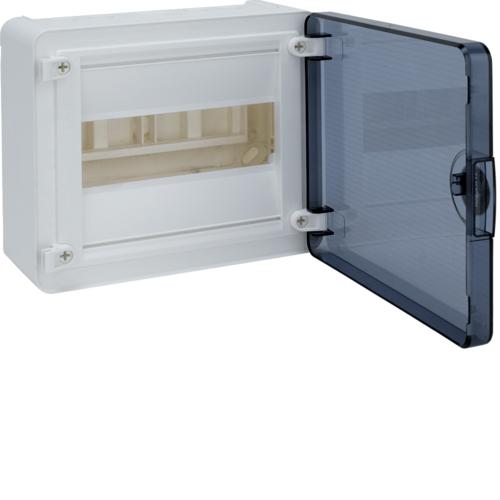 Щит открытой установки, 8М, с прозрачной дверцей