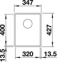 Мойка Blanco Subline 320-F схема