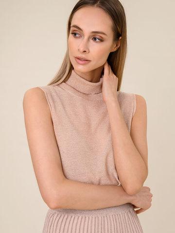 Женский свитер без рукавов бежевого цвета из вискозы - фото 3