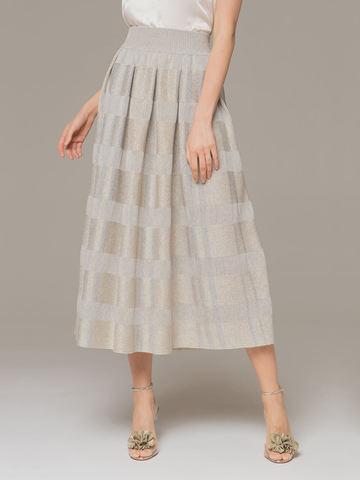 Женская юбка серого цвета из вискозы - фото 2