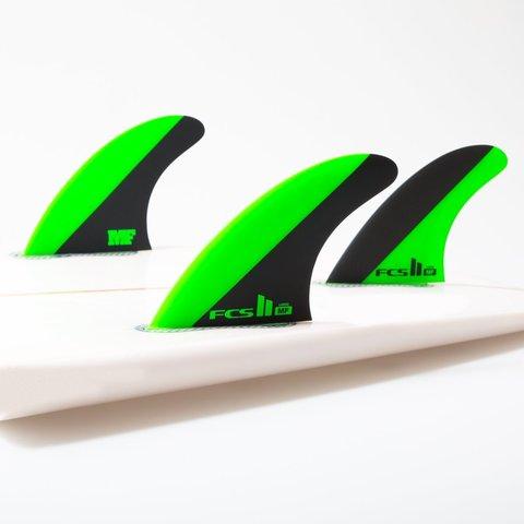 FCS II MF PC Green/Black Large Tri Retail Fins