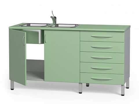 Комплект медицинской мебели БТ-24+БТ-02/5-180 - фото