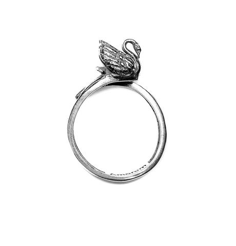Swan Totem Ring, Sterling Silver