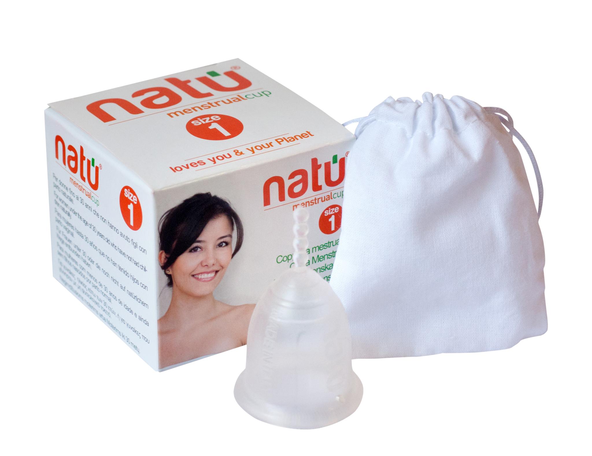 NATU 1 размер фото менструальной чаши