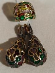 Сумерки  (кольцо + серьги из серебра)