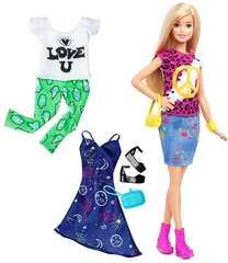 Кукла Barbie с одеждой, блондинка