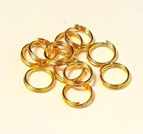 Кольцо двойное 7 мм золото цена за 10 шт