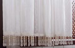 Тюль со стеклярусами. Businka (крем)