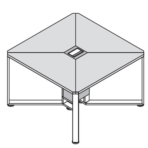 Стол квадратный 1200*1200 (OLLIE)