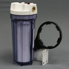 Комплект PS 891C1-W12-PR-BN (прозрачная колба, кнопка сброса, латун.вставка, картридж, 1/2