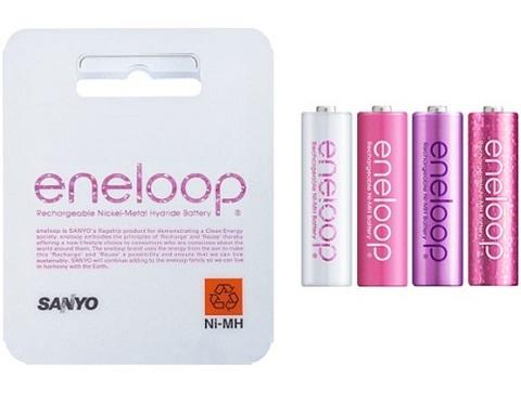 Аккумуляторы Eneloop HR-3UTGB-4R(4P) tones rouge