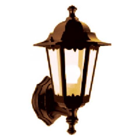 Светильник 6060-11 садово-парковый шестигранник, 60Вт, вверх, бронза TDM