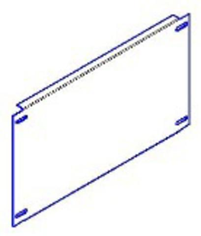 Панель монтажная 300х745 для ЩМП-х.8.4 TDM