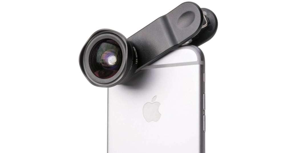 Широкоугольный макро объектив Pictar Smart Lens Wide Angle/Macro на смартфоне