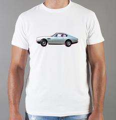 Футболка с принтом Астон Мартин (Aston Martin) белая 0011
