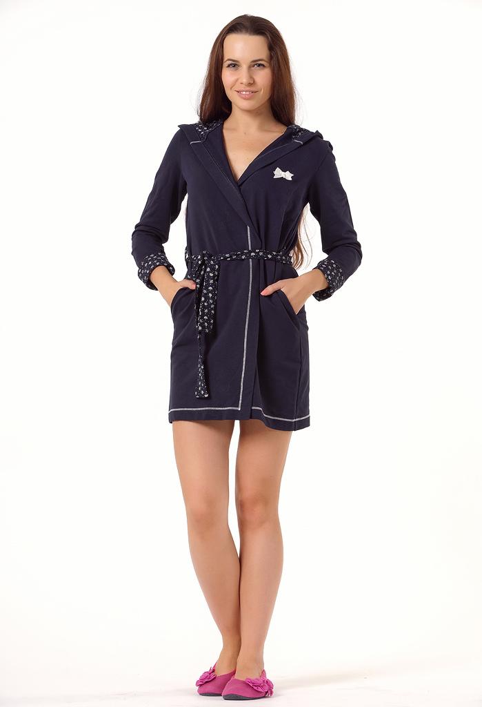 Короткий женский халат Rosapois