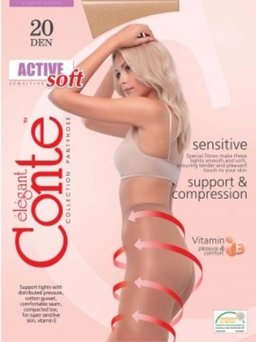 Conte Active Soft Колготки женские 20d, p.4 bronz