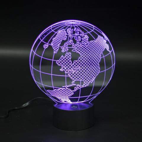 3д ночник Глобус Америка