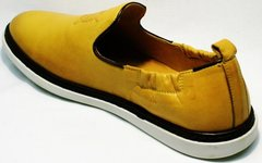 Красивые мужские туфли летние King West 053-1022 Yellow-White.