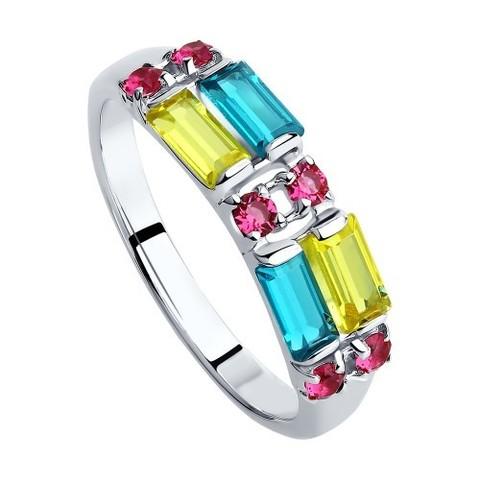 Кольцо c кристаллами Swarovski