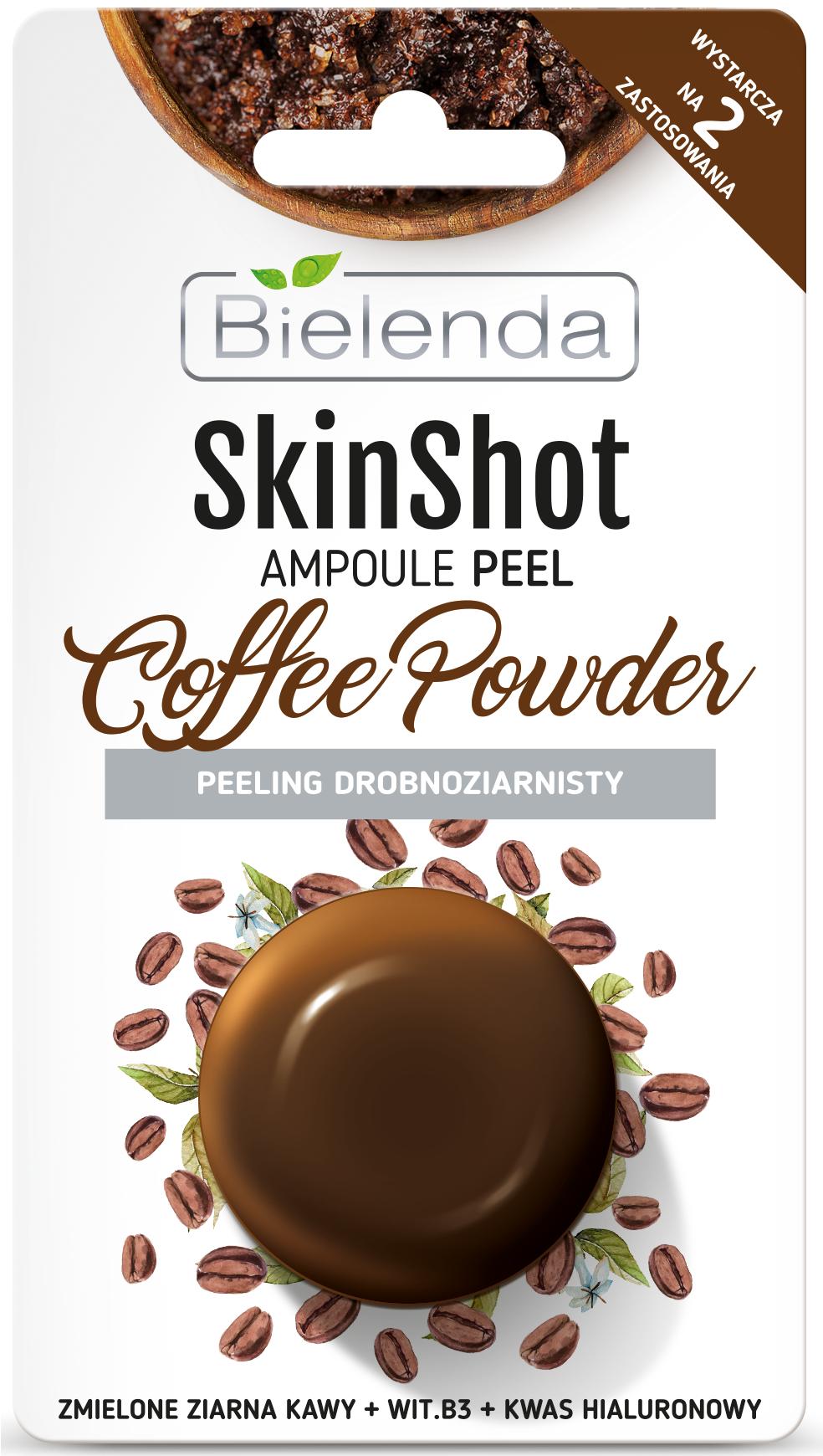 SKIN SHOT Мелкозернистый скраб, кофе-порошок  8 г