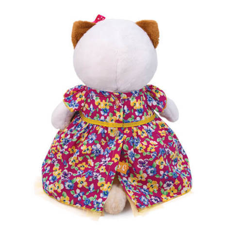 Кошечка Ли-Ли в платье с цветочным принтом