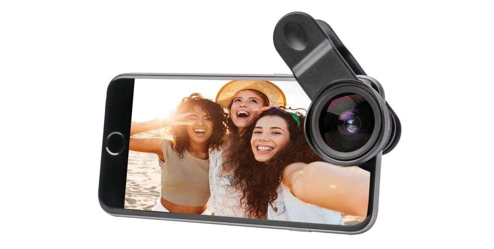 Широкоугольный макро объектив Pictar Smart Lens Wide Angle/Macro для смартфона вид спереди