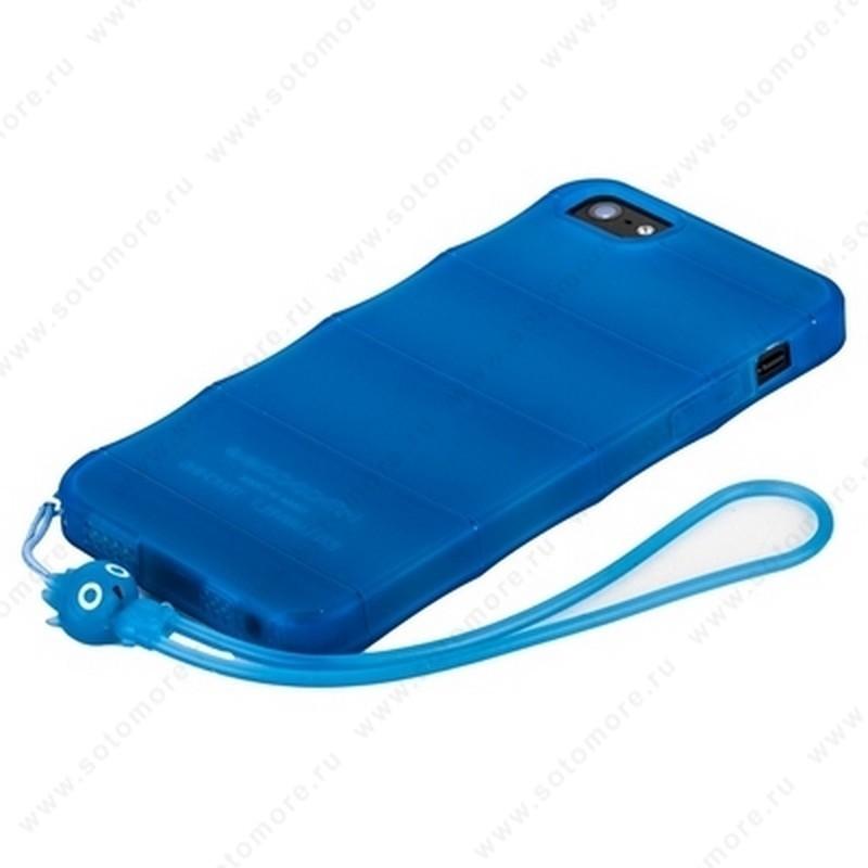 Накладка HOCO для iPhone SE/ 5s/ 5C/ 5 - HOCO Cool·Bamboo TPU crystal case Tran-blue