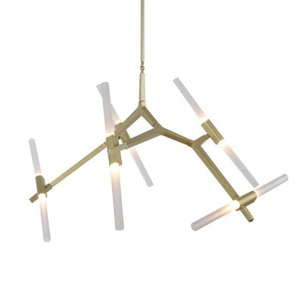 Потолочный светильник копия AGNES by Roll & Hill (10 плафонов, золотой)