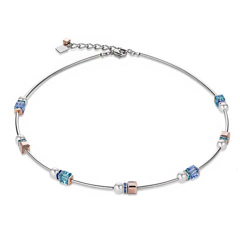 Колье Coeur de Lion 4804/10-0700 цвет белый, голубой