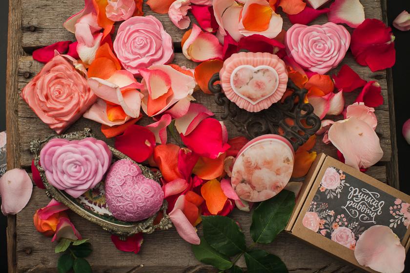 Мыло Сердце-роза. Пластиковая форма