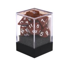Набор разногранных коричневых кубиков