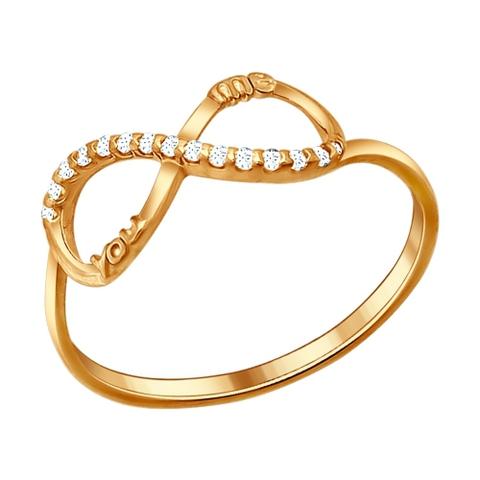 93010478- Кольцо бесконечность из золочёного серебра от  SOKOLOV