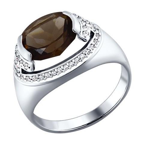 Серебряное кольцо с  раухтопазом