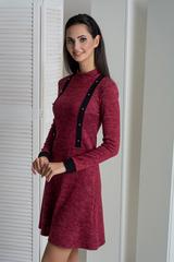 Рика. Стильное молодежное платье. Бордо