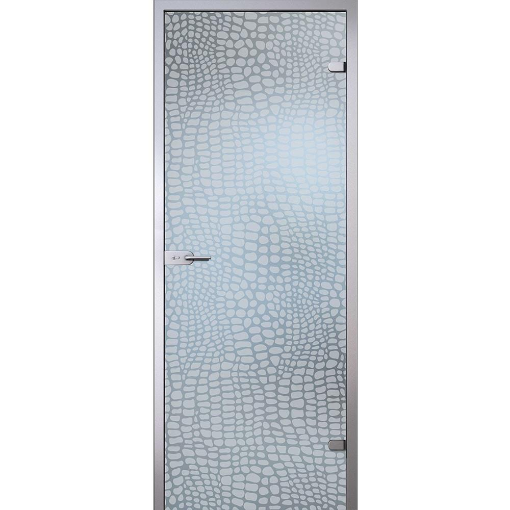 Стеклянные межкомнатные двери Межкомнатная стеклянная дверь АКМА Аллигатор стекло бесцветное матовое aligator-dvertsov-min.jpg