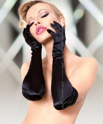 Длинные атласные перчатки - SoftLine Accessories 7702