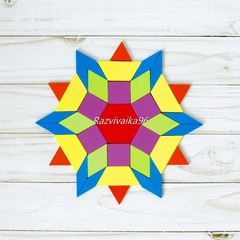 Мозаика - танграм Цветочек