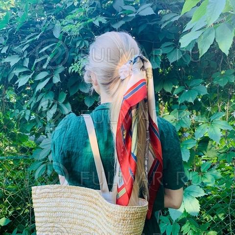 Платок с резинкой модный аксессуар для волос (цвет: бежевый, красный, оливковый)